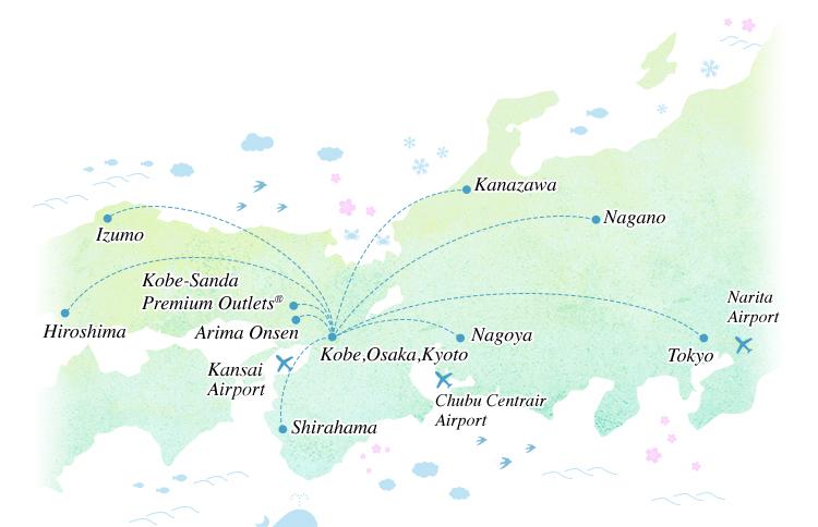 Visit Japans famous tourist destinations with JR Expressway Bus